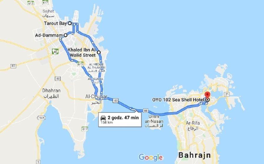 bahrain-saudarabia-map