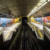 the shortest subway in the world (Haifa)
