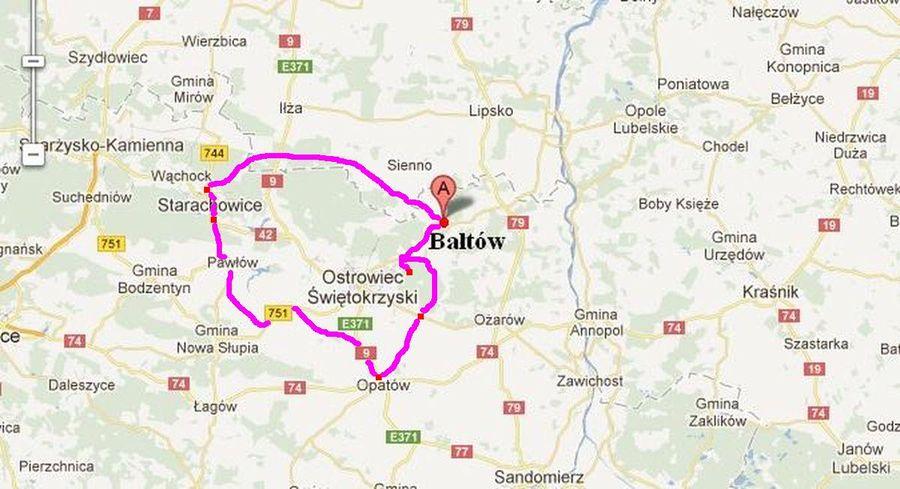baltow-dojazd-trasa-wycieczki