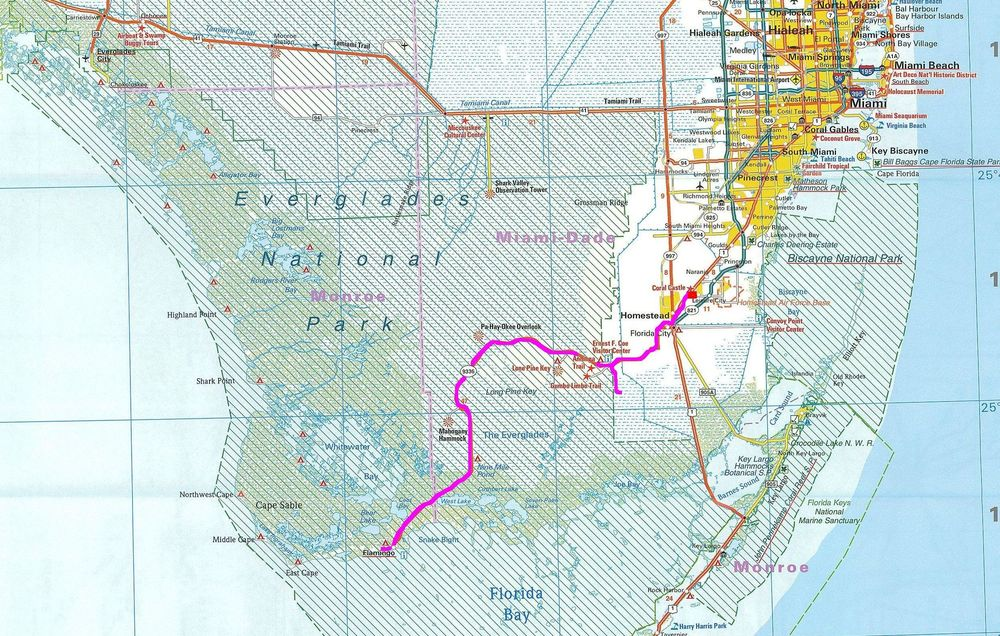 floryda-ewerglades-n-p-int-map