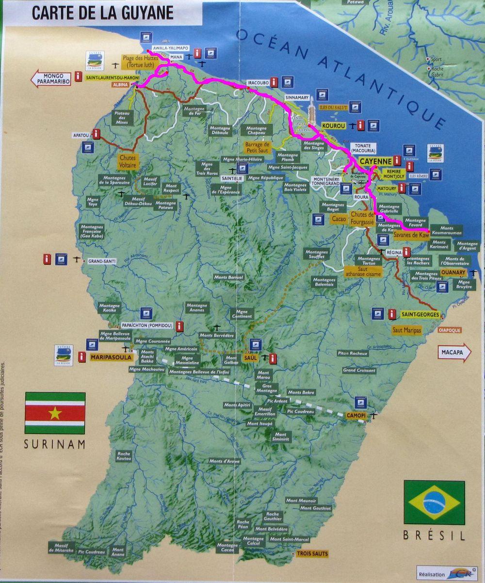 gujana-francuska-mapa