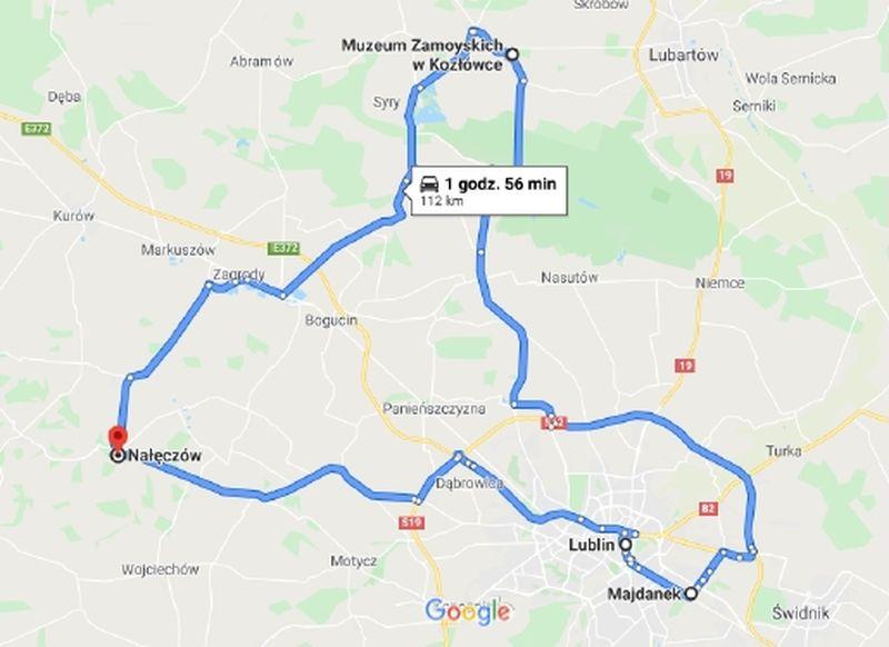 naleczow-2020-trasa